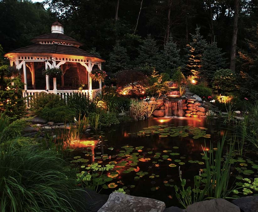 Submersible Pond Lights Vs Downlighting Lighting