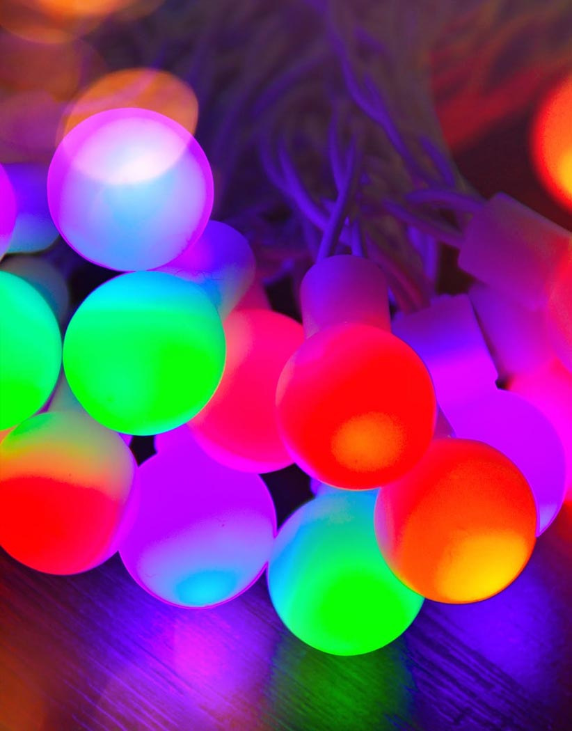 Multi Colored Globe String Lights