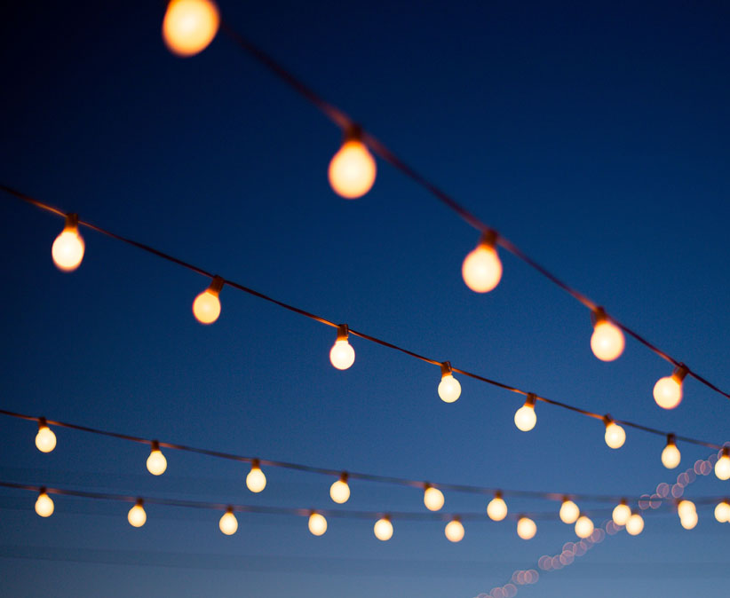Outdoor Patio String Light Canopy