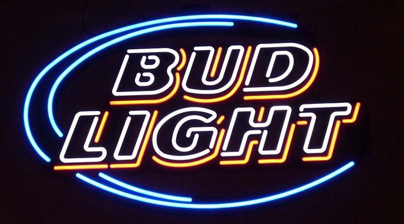 Bud fény neon jel
