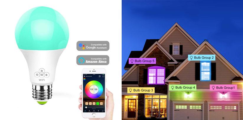 Konxie Wi-Fi Smart LED 11W RGBWW BR30 Flood Light Bulb