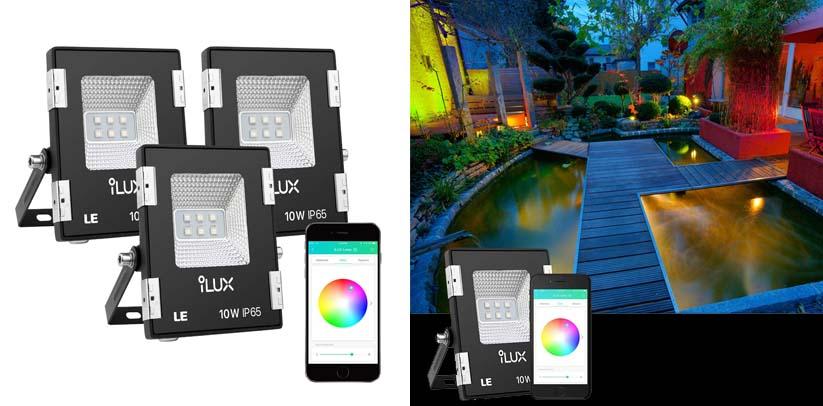 LE iLUX Smart LED Flood Lights