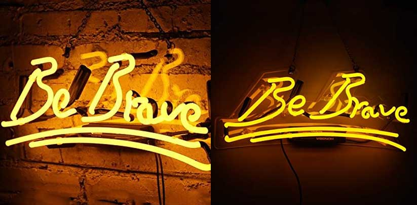 Flydoo Be Brave Neon Sign