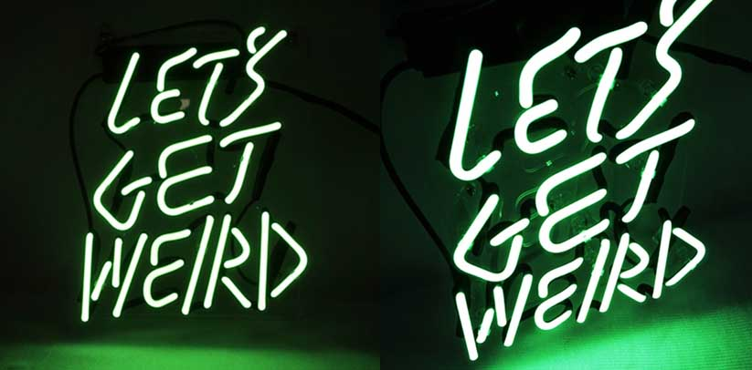 Kukuu Neon Sign 'Let's Get Weird