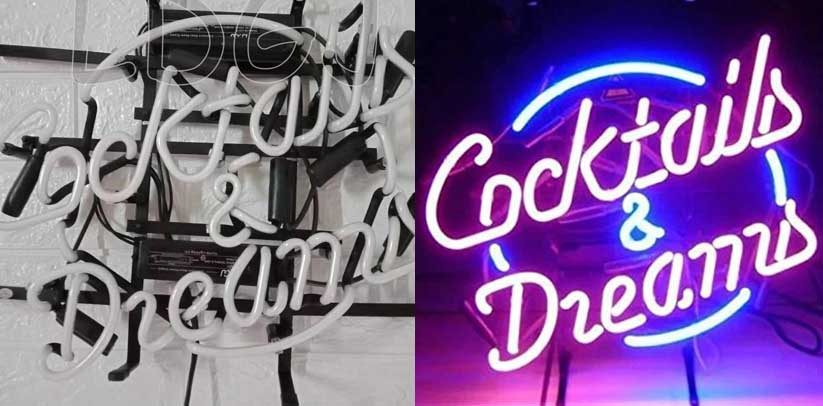 LDGJ Cocktails & Dreams Neon Sign