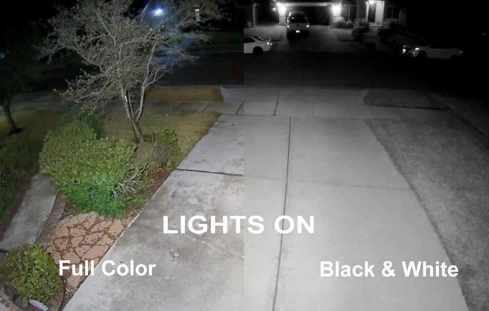 Using the Flood Lights at Night