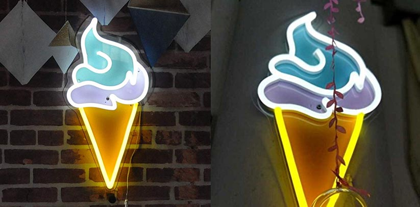 Vasten Handmade LED Neon Sign Ice Cream Cone
