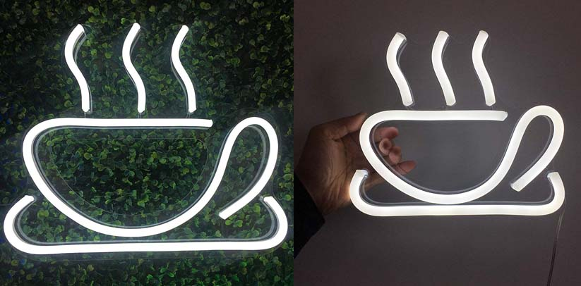Vasten Neon Sign Coffee Cup