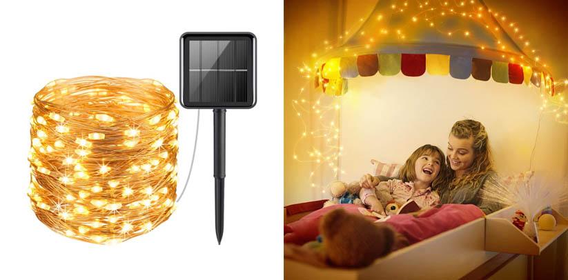 AMIR Upgraded Solar Powered Indoor String Lights