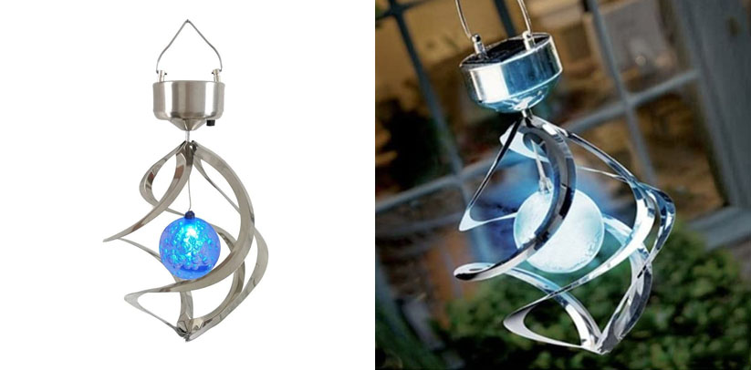 StillCool Solar Wind Chime LED Colour Changing Hanging Indoor Solar Light