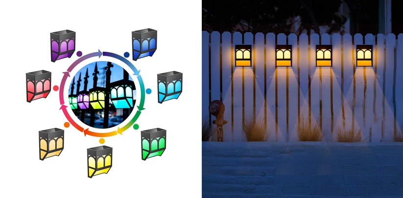 Sunface Color Changing Mounted LED Deck Lamp