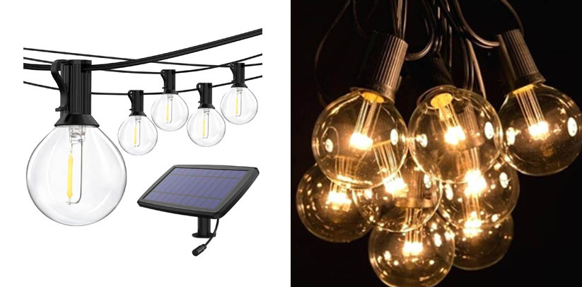 Sunlitec Solar String Lights Waterproof LED Indoor Hanging Lights