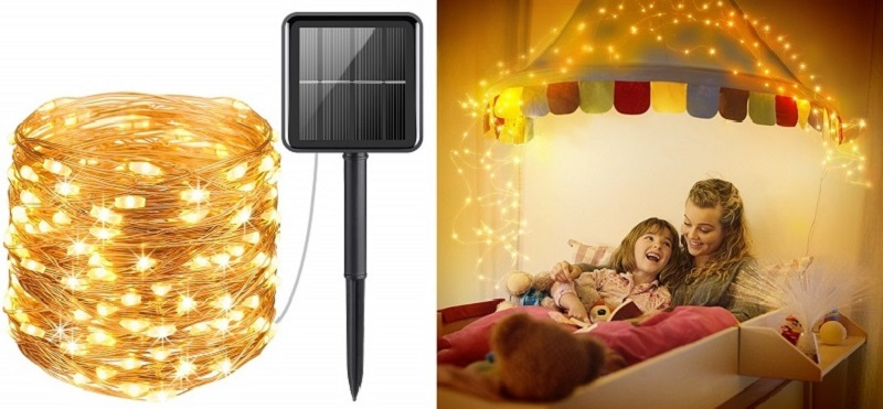 4. AMIR Solar Powered String Lights