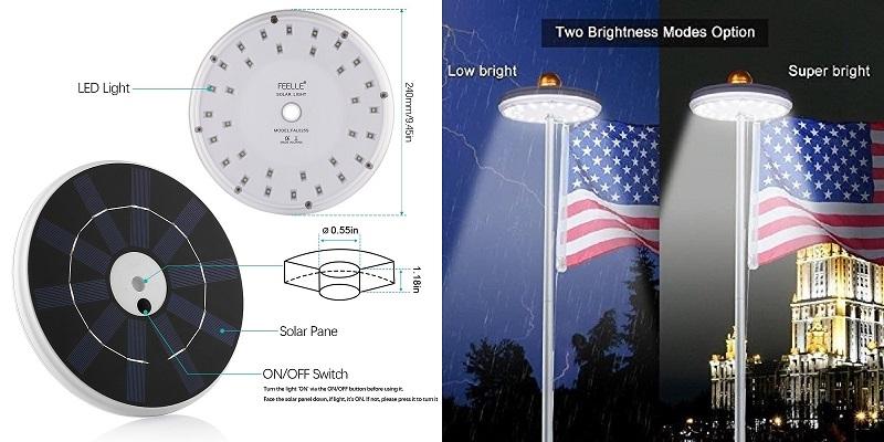 Feelle-Solar-Flagpole-Light