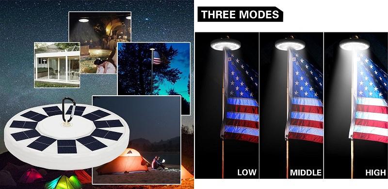 Hallomall-Solar-Flagpole-Light