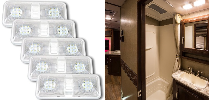 Leisure-LED-Double-Dome-Ceiling-Light-5-Pack