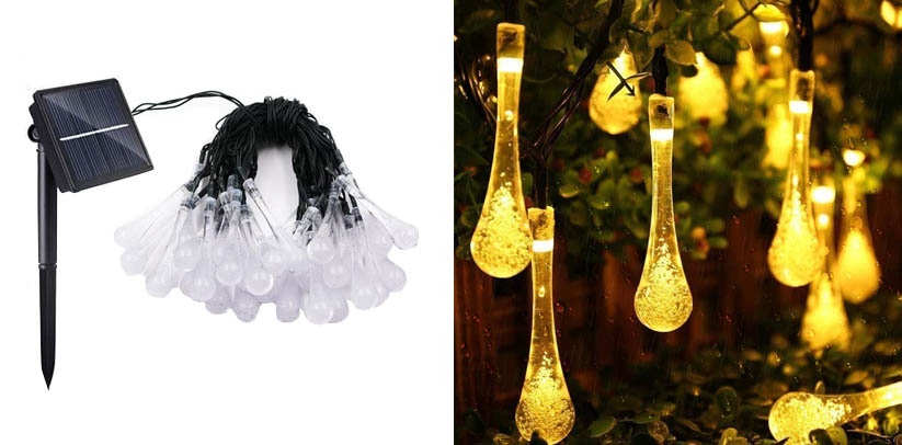 Lemontec Solar String Fairy Lights