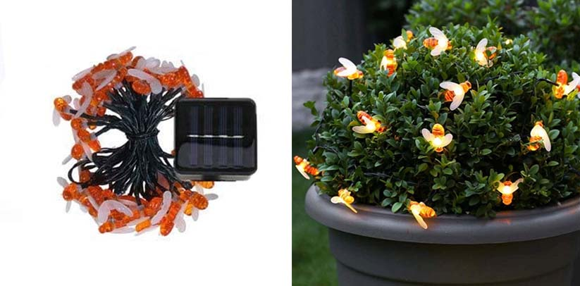 LiyuanQ LED Solar Bee Fairy Lights