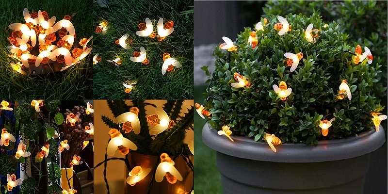 5. Solar Bee Fairy Lights