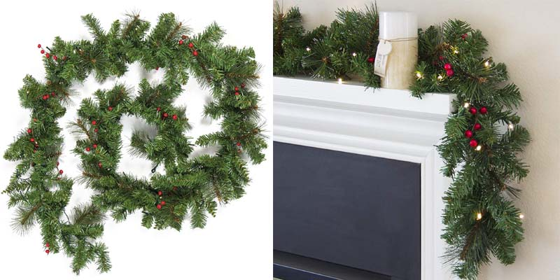 Best Choice Products Cordless Christmas Garland with 50 LED Lights