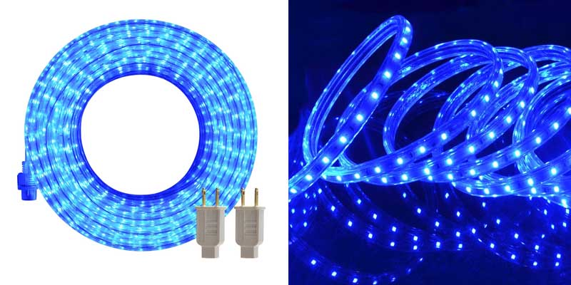 LED Rope Lights, 50ft Flat Flexible Light Strip