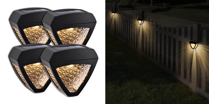 LeiDrail Solar Wall Lights Outdoor Deck Fence Light