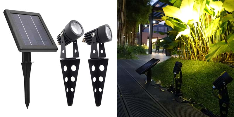 Mini 50X Twin Solar-Powered Cast Aluminium Warm White LED