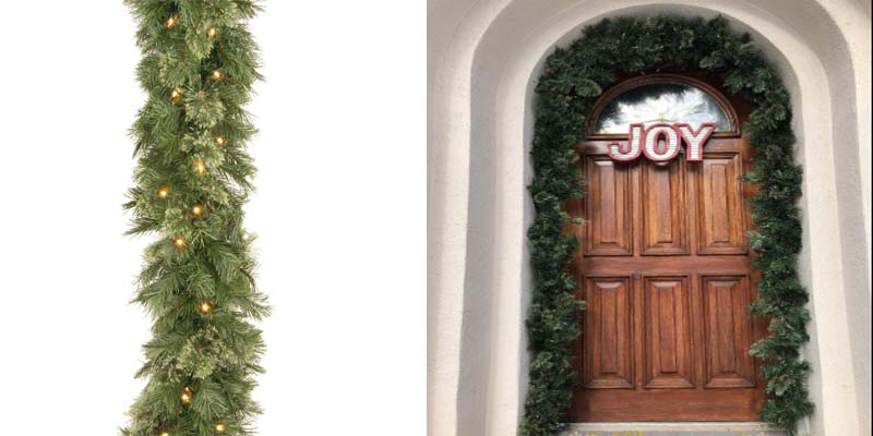 National Tree Company Wispy Willow Garland with 50 Clear Lights