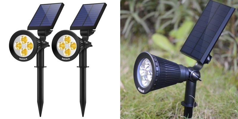 Nekteck Solar Lights Outdoor Spotlights