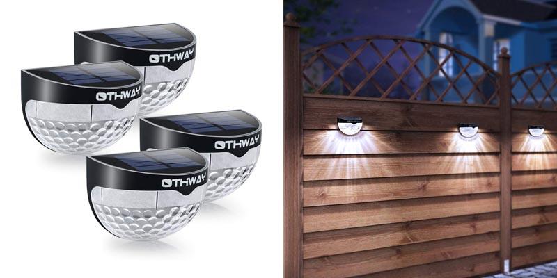 OTHWAY Solar Fence Post Lights Wall Mount Decorative Deck Lighting