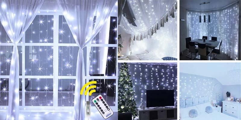 Ollny White Curtain Lights