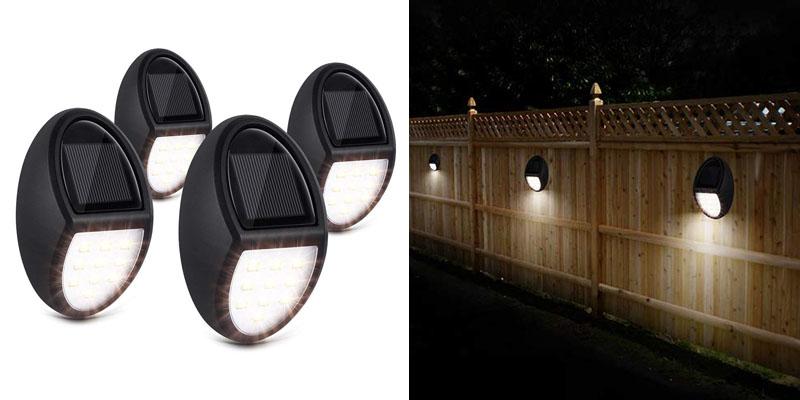 Solar Deck Lights, Nacinic Solar Powered Led Wall Lights Outdoor Waterproof