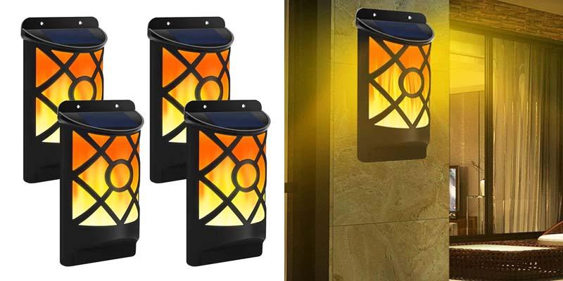 Solar Flame Lights Outdoor, Aityvert Waterproof Flickering Flame Solar Lights