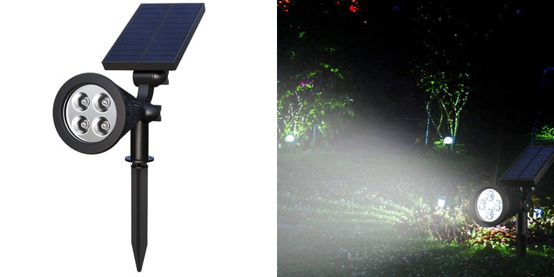 Solar Spotlights, Holan 4-LED Bulb Solar Landscape Lights