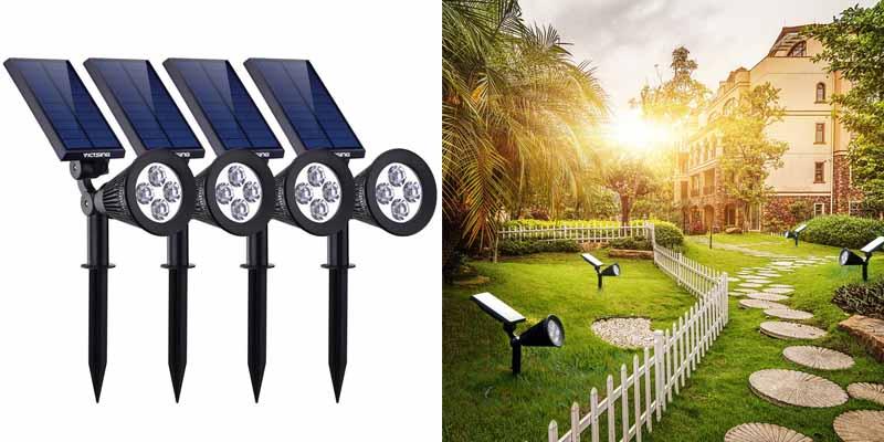 VicTsing 4 Pack Solar Spotlights