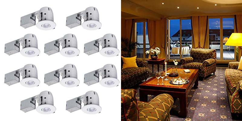 Globe Electric Swivel Round Trim Recessed Lighting Kit