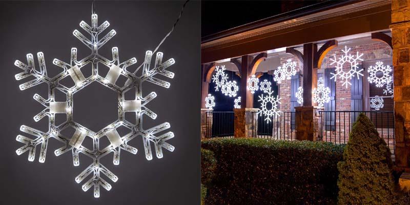 Kringle Traditions Twinkle Snowflake Christmas Lights