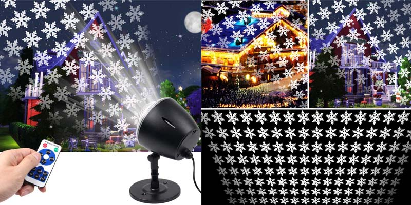 LED Christmas Snowflake Light Projector