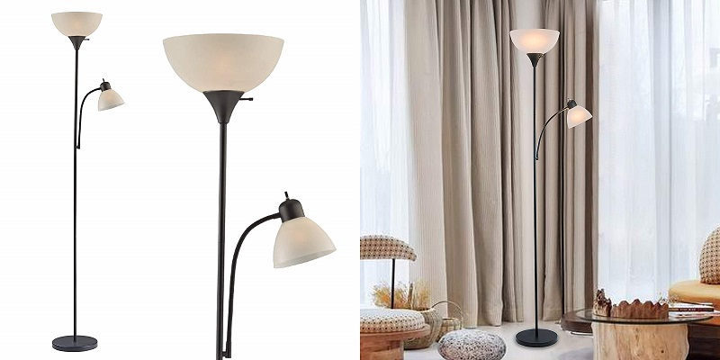 LIGHTACCENTS Susan Modern Standing Lamp with Side Reading Light