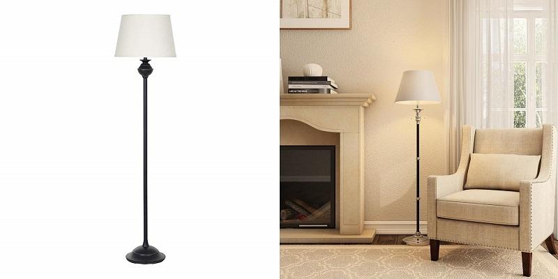 Ravenna Home Metal Standing LED Floor Lamp