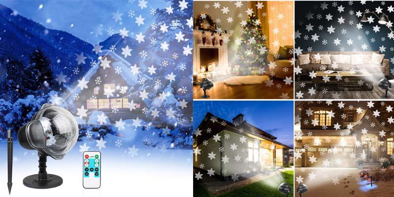 Waterproof Christmas Snowflake LED Light Projector