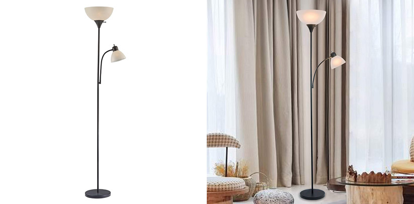 Adjustable LED Floor Lamp with Reading Light by Light Accents