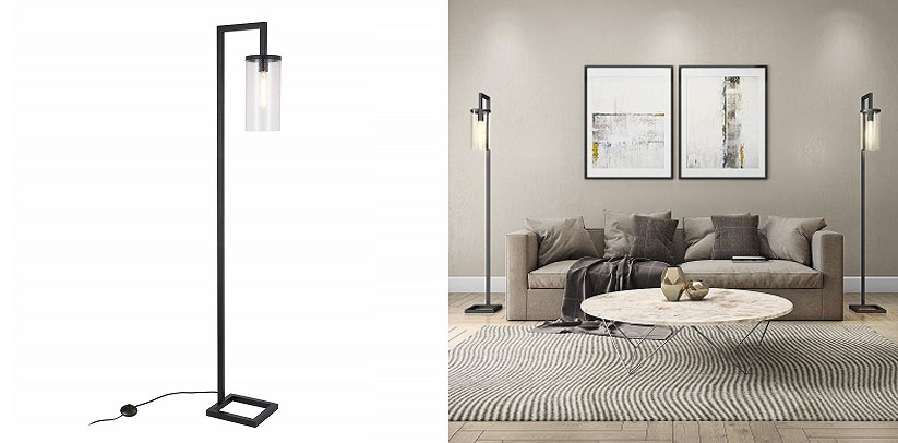 Henn&Hart Farmhouse Seeded Task LED Floor Lamp