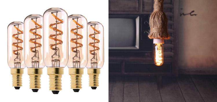 A Golden Glow- SphoonE12 LED Decorative Flexible Filament Light Bulb